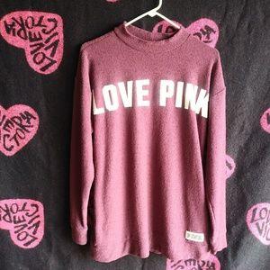PINK mock neck sweatshirt